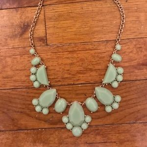 Kate Spade mint green Statement necklace